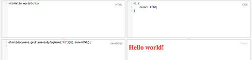 Hello world Firefox OS JSFiddle