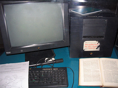 The first computer that runs the web. From Wikipedia: WWW