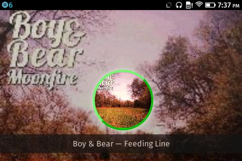 radio paradise mobile web app running on FirefoxOS