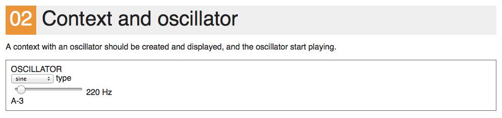 Context with oscillator