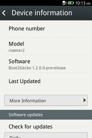 ZTE Open upgraded to Firefox OS 1.2