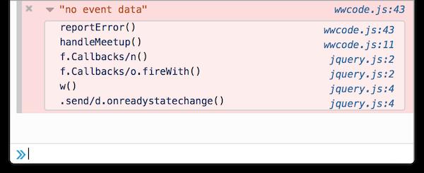 Stack trace in console.error() printout