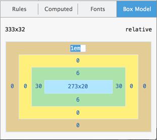 Editing the box model