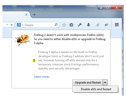 how to add firebug to firefox browser
