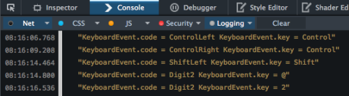 keyboard.code