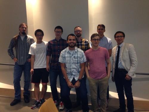 From left: Nathan Larson, Jiang Kai, Wu Hao, David Cobbley, Dean Nida, Ruben Niculcea, Thomas Guerena, Ryan Bernstein