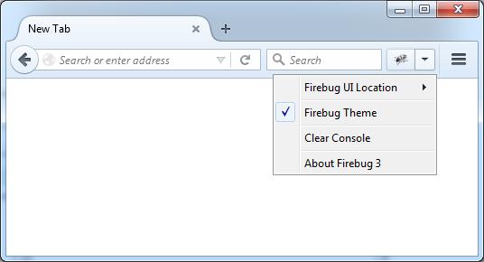 Firebug Start Button