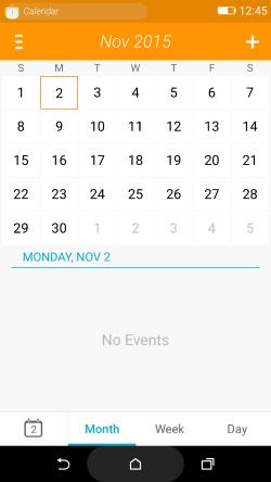 Firefox OS 2.5 developer preview Calendar