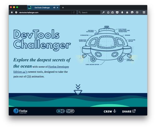 Screenshot of the Devtools Challenger demo website