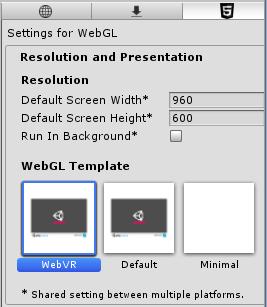 Resolution and Presentationの設定画面