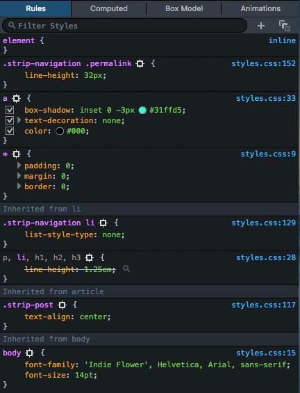 CSS coding techniques