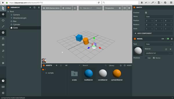playcanvas-editor-cone