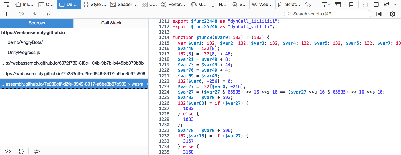シンタックスハイライトされている WebAssembly ファイル