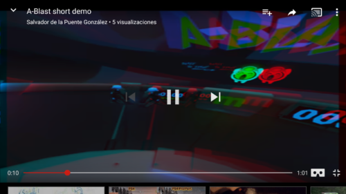 In the YouTube app, a Cardboard is shown in the bottom-right corner to enter VR mode