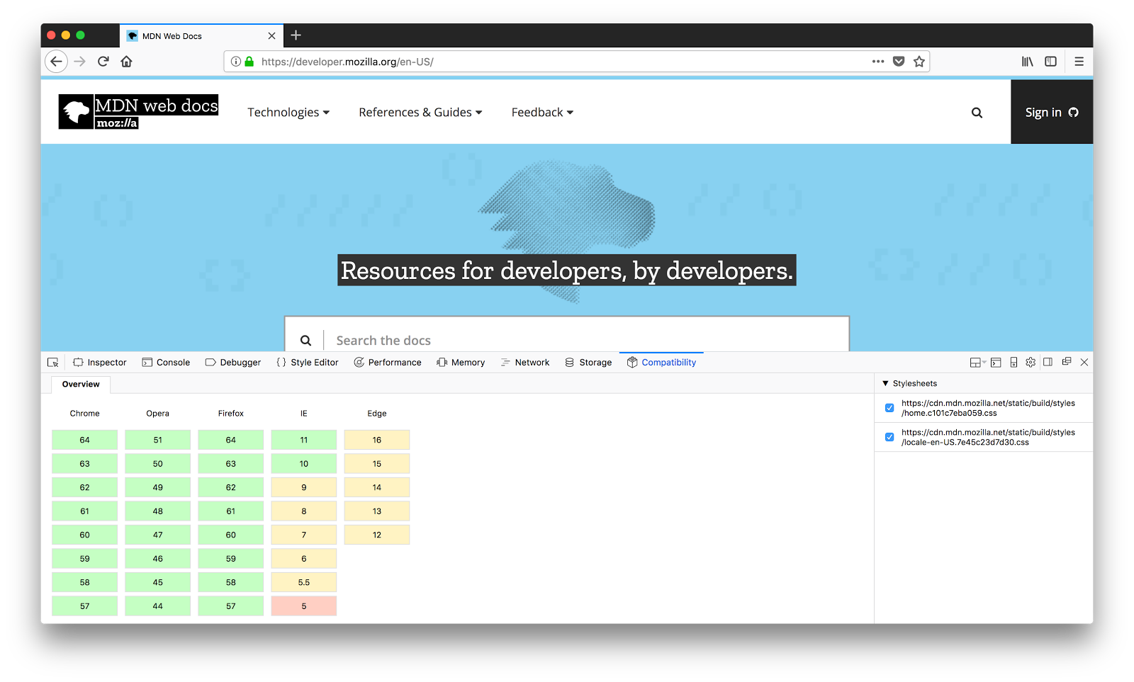 MDN browser compatibility data: Taking the guesswork out of
