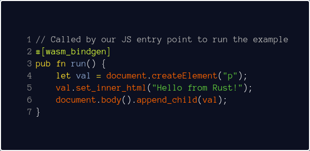 JavaScript to Rust and Back Again: A wasm-bindgen Tale