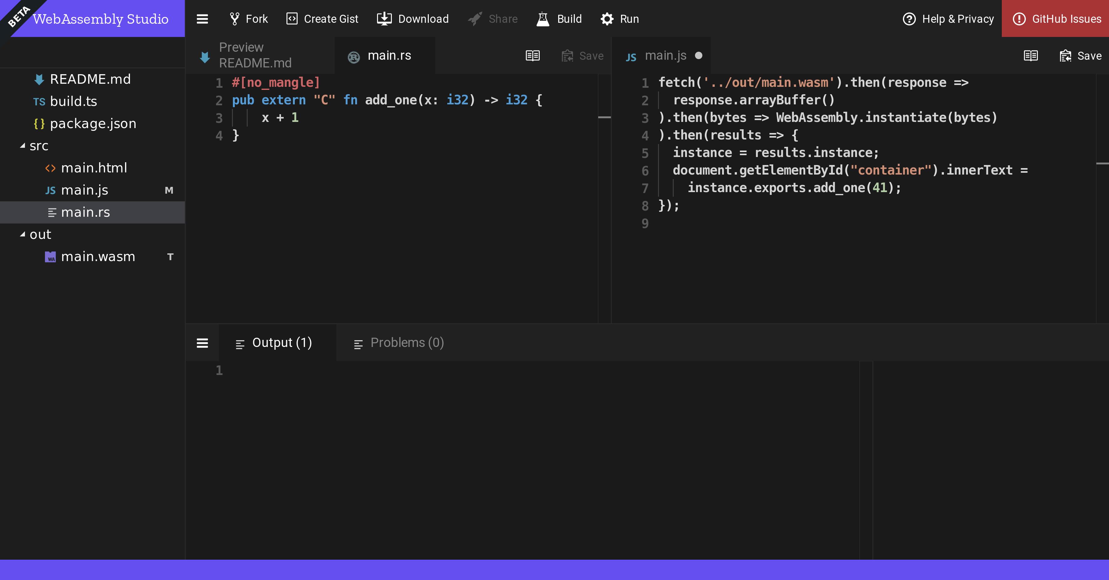 Sneak Peek at WebAssembly Studio - Mozilla Hacks - the Web