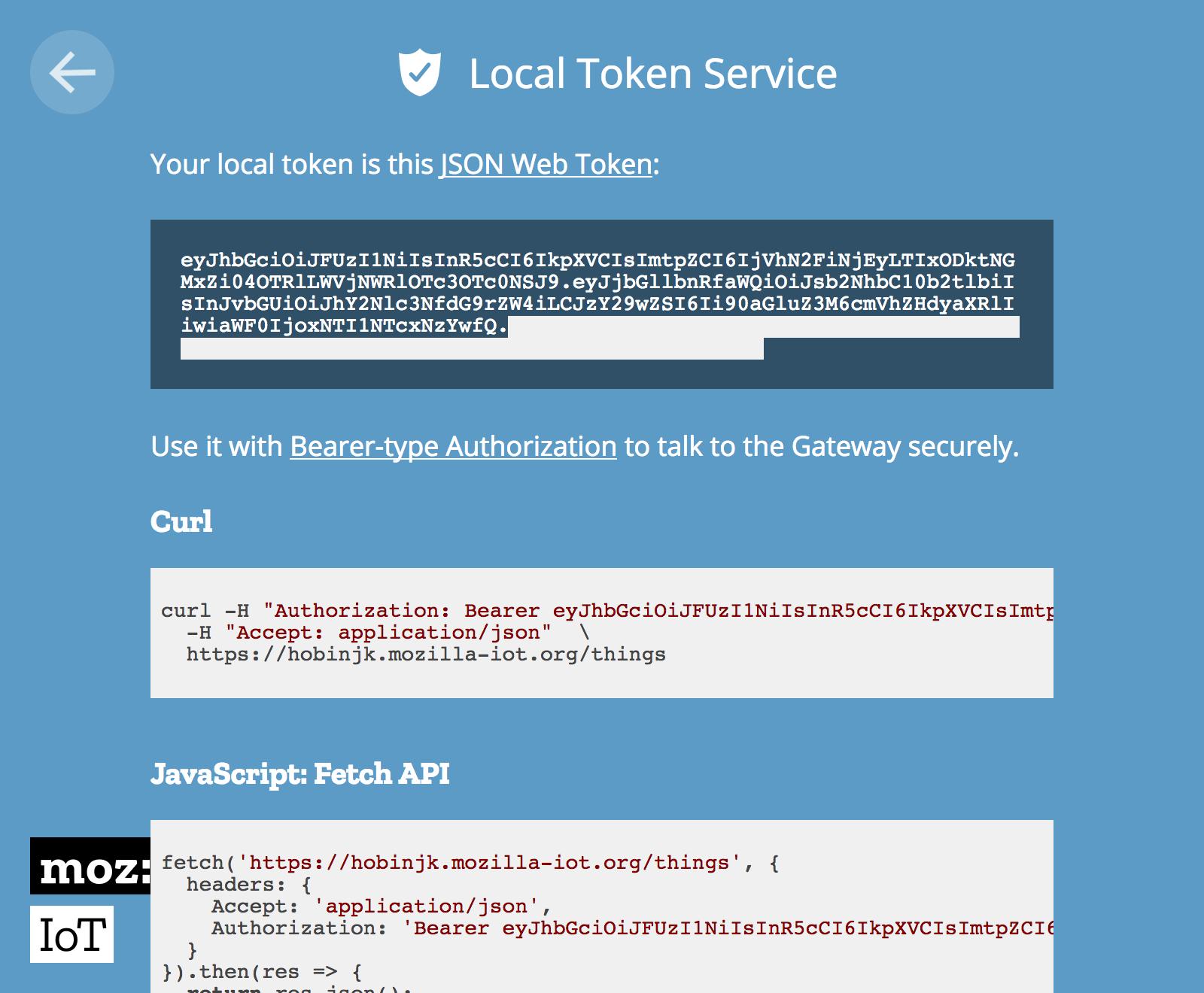 The Local Token Service