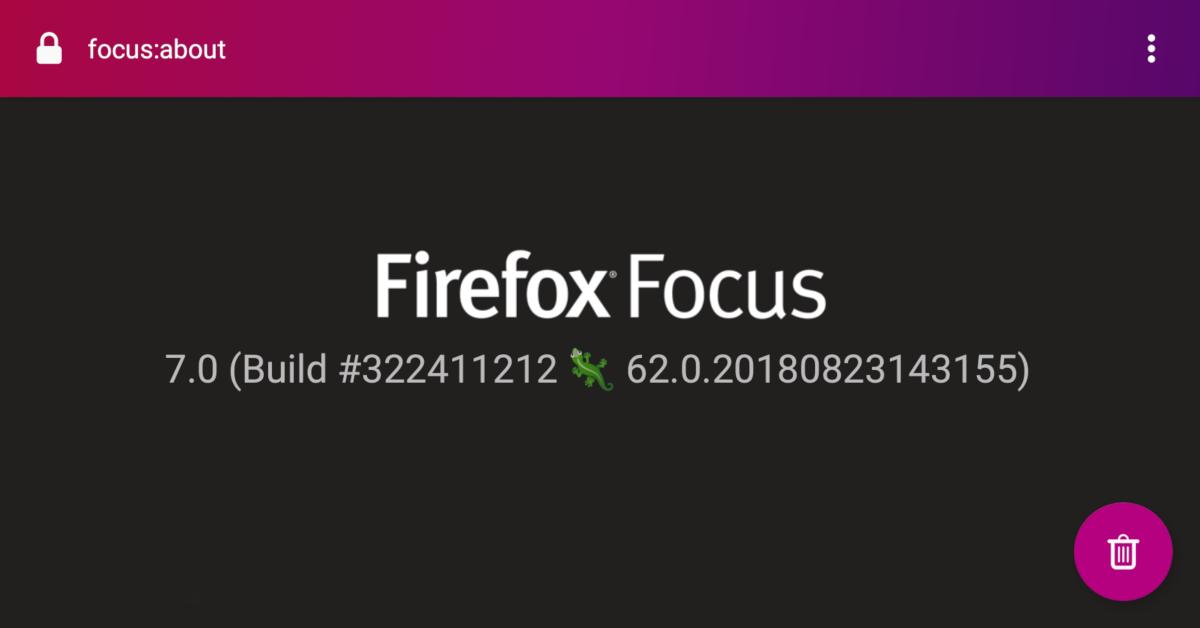 Firefox Focus with GeckoView - Mozilla Hacks - the Web developer blog