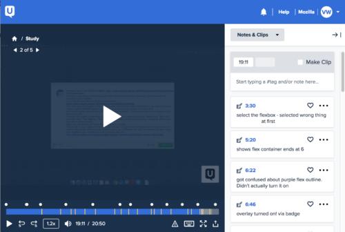 User testing video