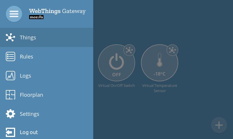 WebThings Gateway UI