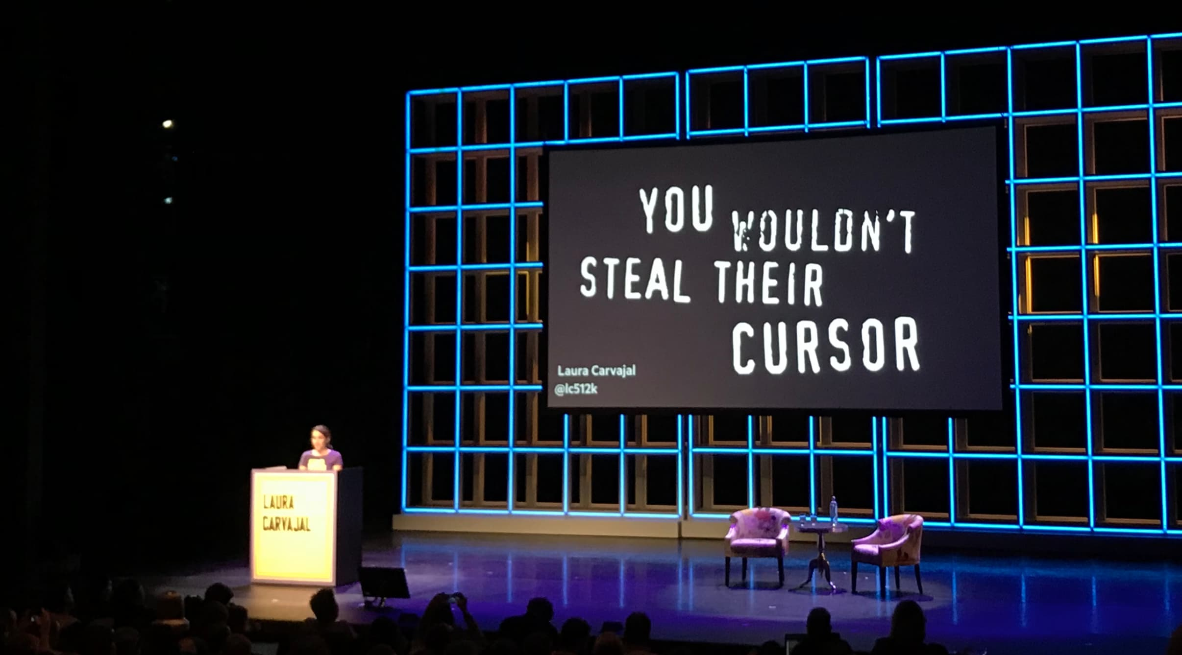 93b18ad8f0e Laura Carvajal with slide: You wouldn't steal their cursor