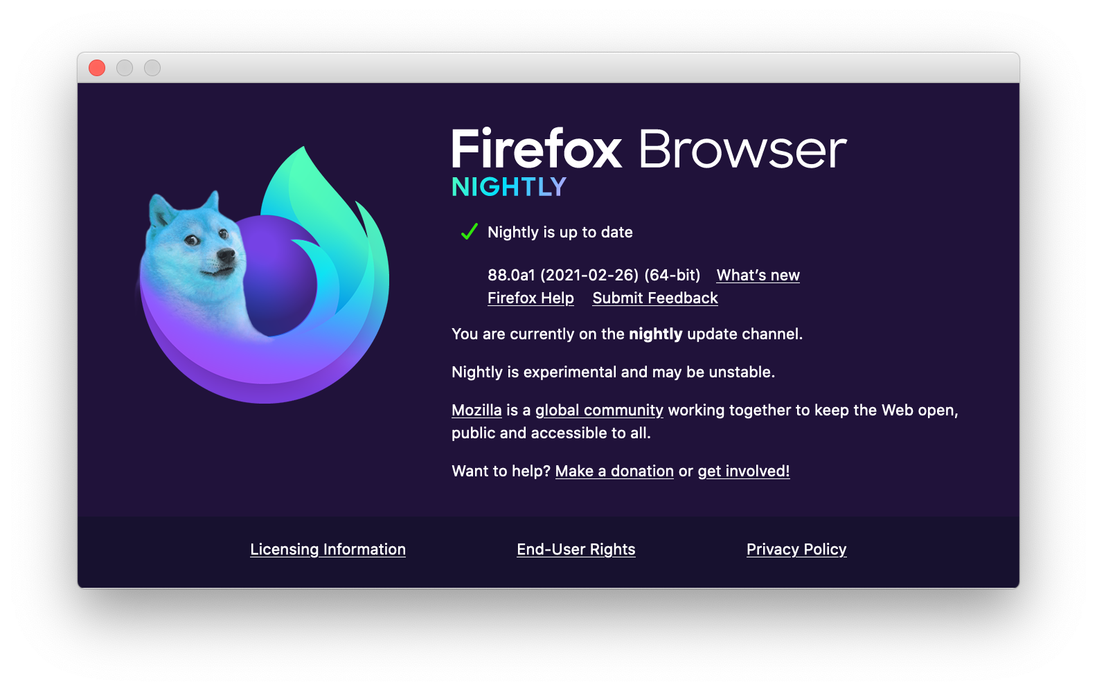 Here's what's happening with the Firefox Nightly logo - Mozilla Hacks - the Web developer blog