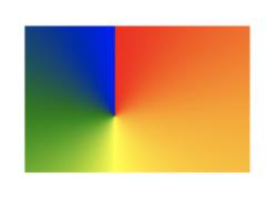 Rainbow radial gradient